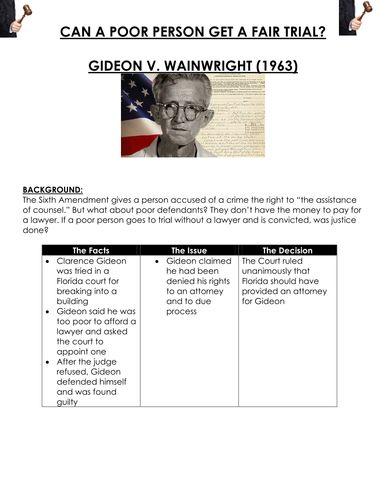 best gideon v wainwright ideas schenck v united turbulent 60s can a poor person get a fair trial gideon v wainwright