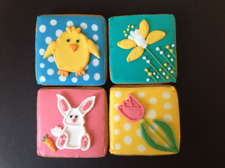 Set of 4 Easter Biscuits