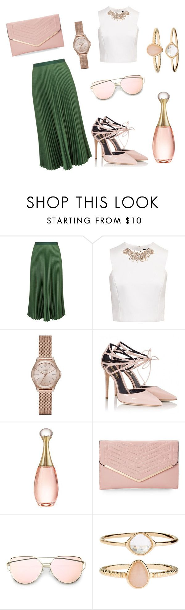 """""""Olive and Blush"""" by beautybydelani on Polyvore featuring Vanessa Bruno, Ted Baker, DKNY, Fratelli Karida, Christian Dior, Sasha and Accessorize"""