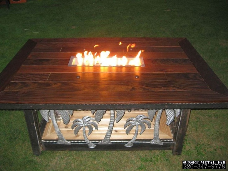 Custom made fire table - Sunset Metal Fab