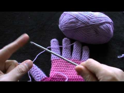 Crocheting With Fingers : crochet gloves with fingers first part Crochet videos Pinterest