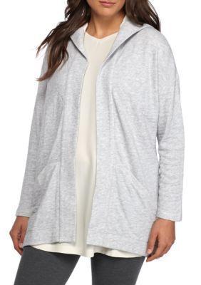 Eileen Fisher Women's Hooded Jacket - Dark Pearl - Xl