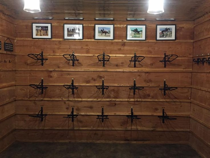 Tack room of Winning Time Training at Rocking B Farm in Ridgefield, WA