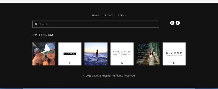Juliette Kristine Website Instagram Feed Design