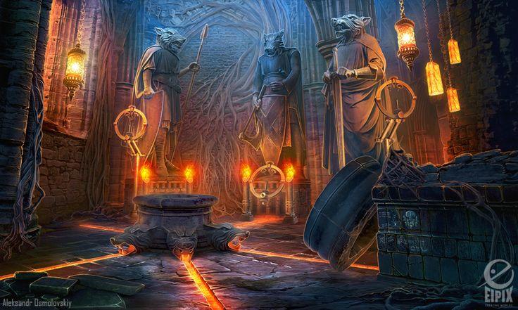Keeper's hall - game scene by aleksandr-osm