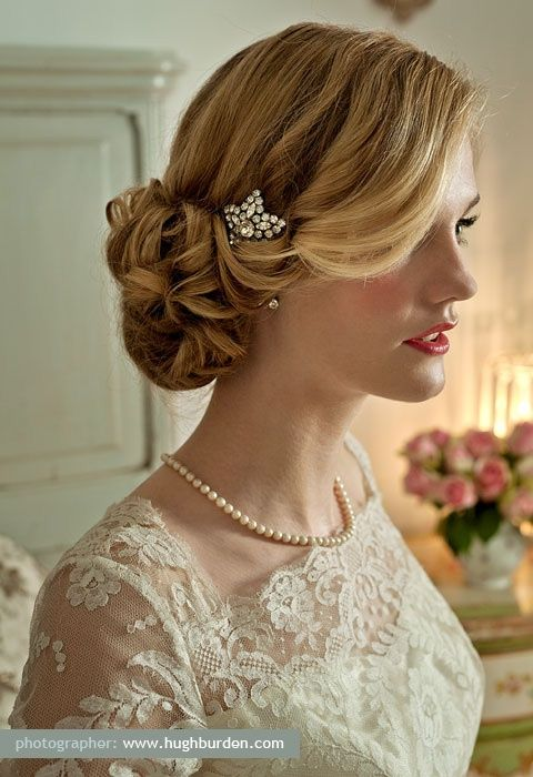 pinterest wedding hair updos | bridal hairstyles - wedding hair design / Pretty updo wedding ...