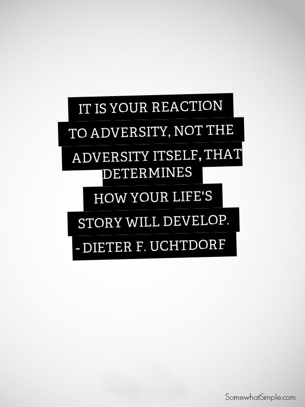 LOVE this quote on Adversity! More inspiration quotes on SomewhatSimple.com