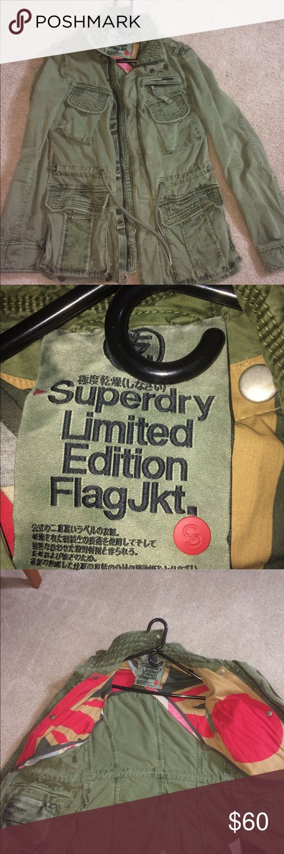 Superdry sz small green military jacket Superdry sz small green military jacket, only sells, no trades. Like new!! Superdry Jackets & Coats Military & Field