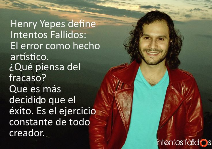 Henry Yepes, actor en Intentos Fallidos