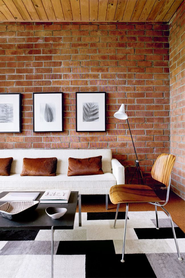 57 Stylish Living Rooms With Brick Walls