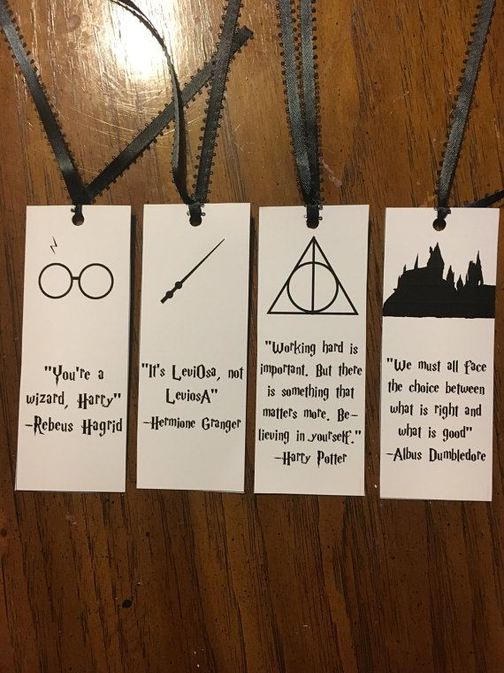 Set of four Harry Potter bookmarks by FarrahRemyCreations on Etsy