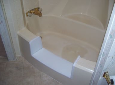 Our bathtub to walk in shower conversion kits work with for Fiberglass garden tub