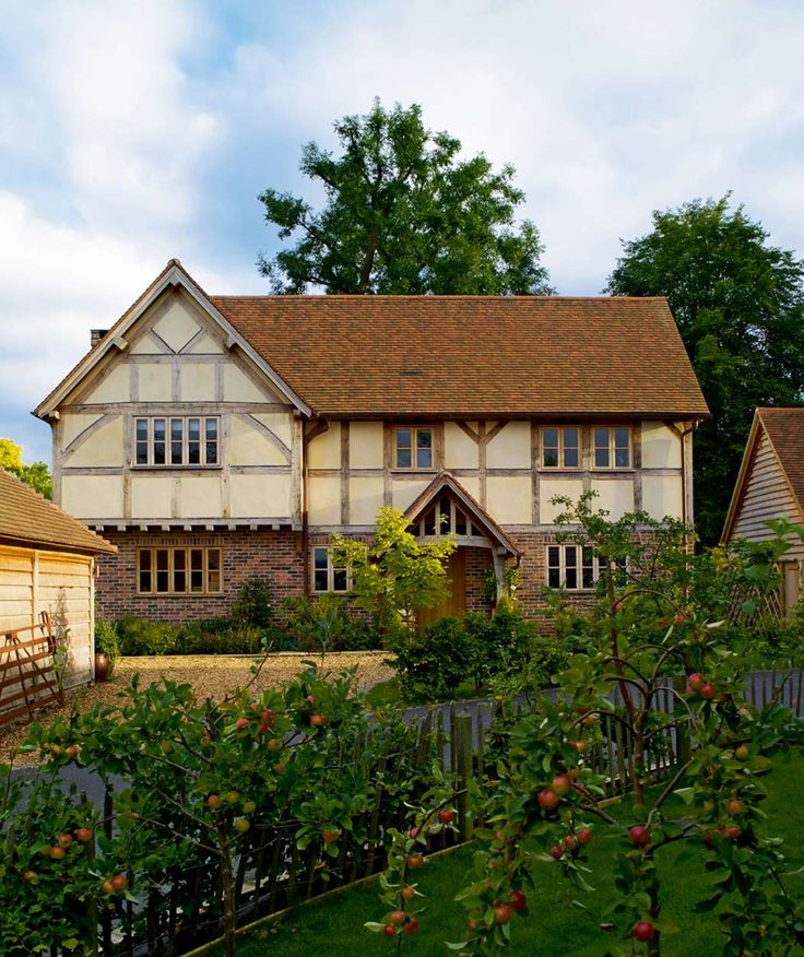 An #oak framed farmhouse in a Herefordshire village that