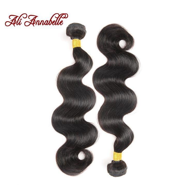 Annabelle  Hair Products Peruvian Virgin Hair Body Wave 100% Virgin Unprocessed Human Hair Weave Hair Extension 2pcs/lot