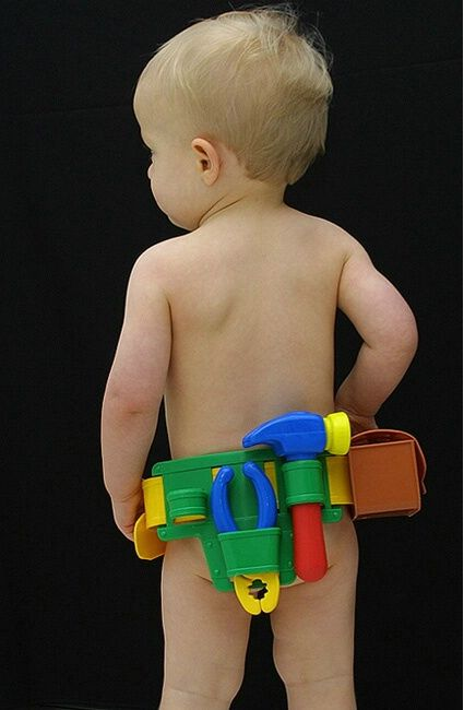 Not exactly Baby Face.... but the back end. LolBaby Face, Baby Boys Photos, Boys Will Be Boys, Kids Boys, Baby Scales Photography, Baby Tools Belts, Boys Toddlers Clothing, Little Boys, Kids Tools