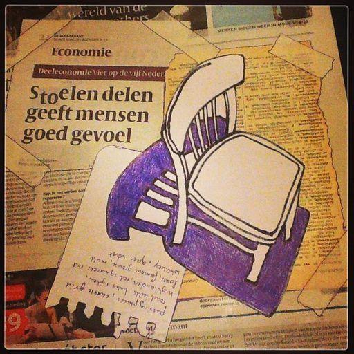 Ellen van Putten - Share a Chair   Deel je stoel, dat geeft een goed gevoel!  Stuur een foto van je favoriete stoel, je bank of kruk, waar je graag in leest, schrijft, schildert, tekent, televiesie kijkt. Een gevonden stoel, een parkbank of autostoel. Ik teken de zetel in bic, houtskool, bister of inkt. De foto van de tekening wordt getoond op Het Groot Niet Van Algemeen Nut Boek op Facebook onder vermelding van jouw naam en het eventuele verhaal wat daarbij hoort.   #shareachair