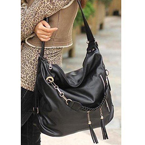 Donalworld Women Hobo Fashion Tassel Manmade Leather Shoulder Handbag - http://handbags.kindle-free-books.com/donalworld-women-hobo-fashion-tassel-manmade-leather-shoulder-handbag/