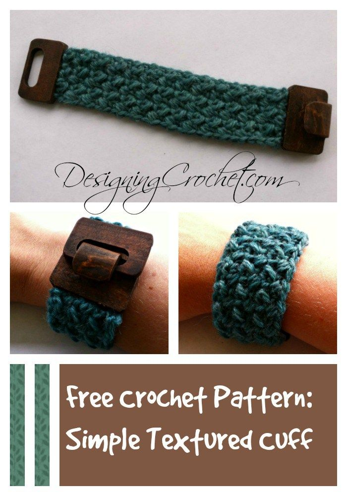 Free Crochet Pattern: Simple Textured Cuff from Designing Crochet by Amanda…