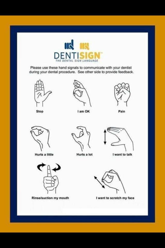 The Dental Sign Language #Dentist #Dental #Hygienist