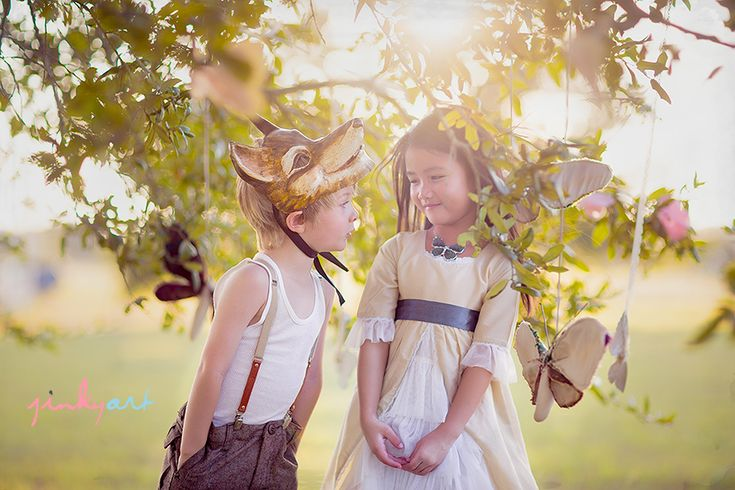 two innocent young children asking each other questions about each other so innocently    So sweet - love this photo from jinky art