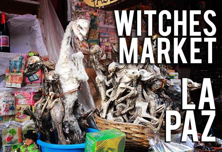 Bolivia's El Mercado de las Brujas… the name just rolls off the tongue and straight into the cauldron. Read more in travel blog post!