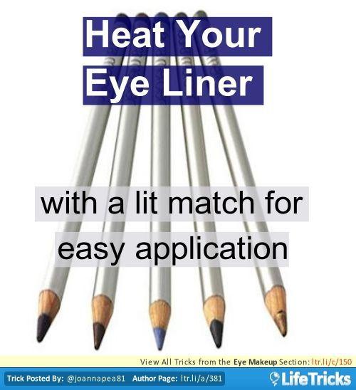 eyeliner tricks tips hacks