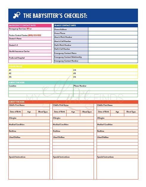Template 5 Babysitting Invoice Template Essay Checklist Free Child