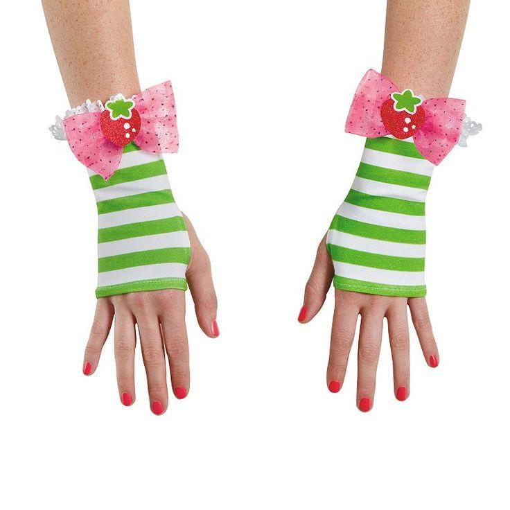 Strawberry Shortcake Costume Glovettes - Adult, Green
