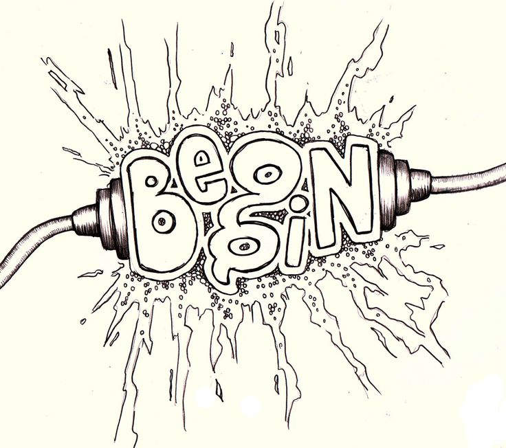 by Vernon Fourie   doodle doodling doodleart zenart illo drawing lettering typography begin spark