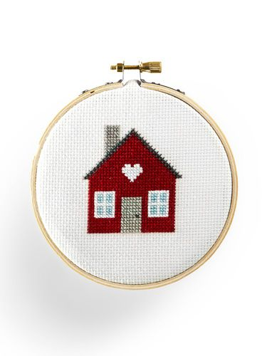 Get the pattern for this cute tiny house cross-stitch.