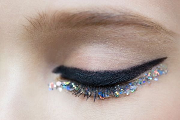 I first saw this on WWD and then Refinery 29 had the close-up; so fairy meets punk! Chanel Shows Us How Sparkle Eyeliner Is Done