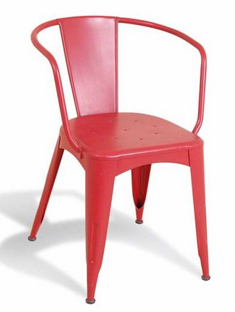 French Metal Cafe Chair Red - £149.00 - Hicks and Hicks