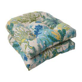 Pillow Perfect Splish Splash Blue Tropical Seat Pad For Universal 496467. Patio  Chair CushionsOutdoor ...