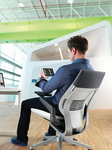 using tablet in a steelcase gesture chair