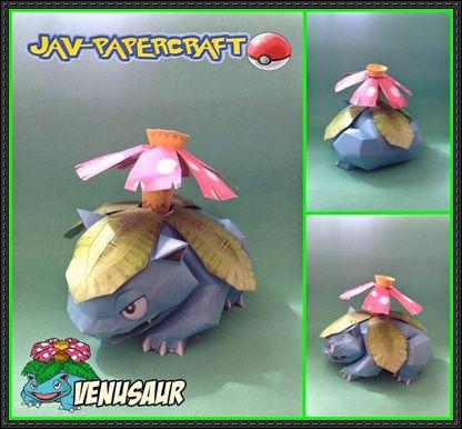 Pokemon - Venusaur Ver.2 Free Papercraft Download - http://www.papercraftsquare.com/pokemon-venusaur-ver-2-free-papercraft-download.html