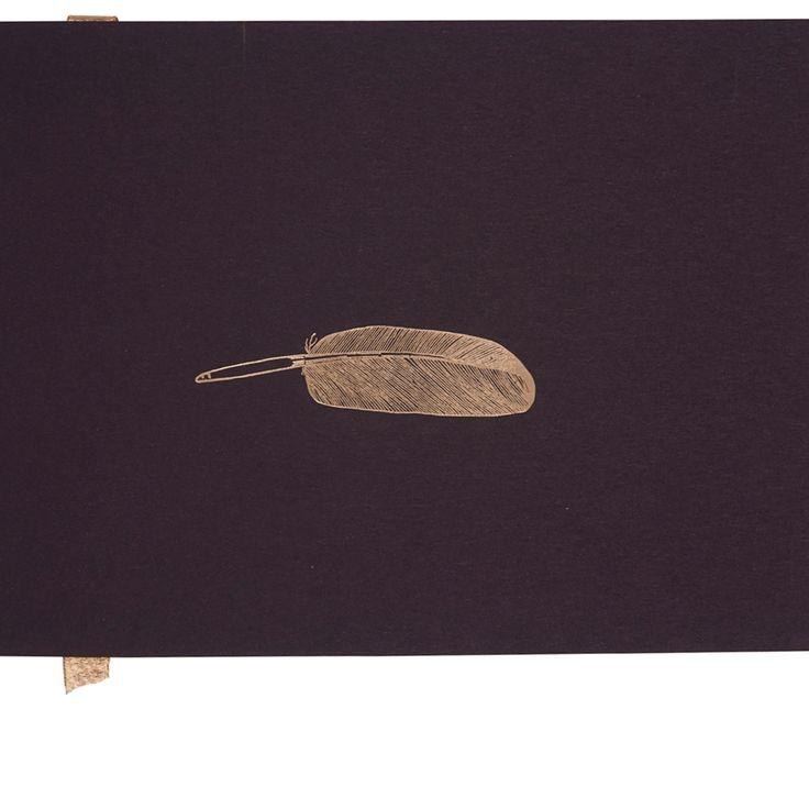 Notebook Medium Veer, Zwart