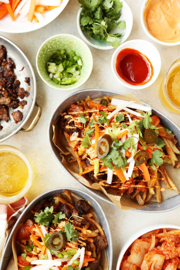 Loaded Idaho Potato Kimchi Fries - The Candid Appetite