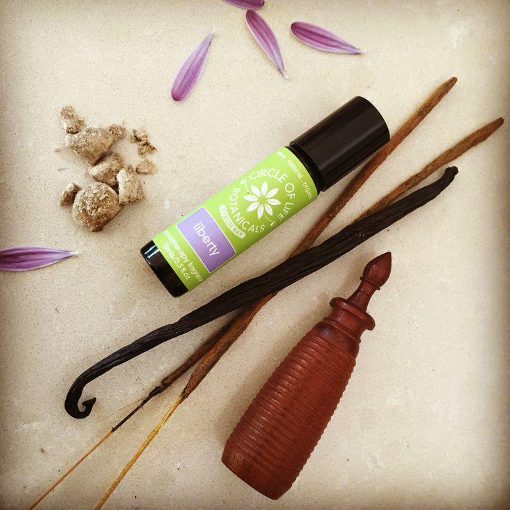 Liberty - sweet amber and vanilla with a touch of ylang ylang. An exotic and sensual natural perfume oil