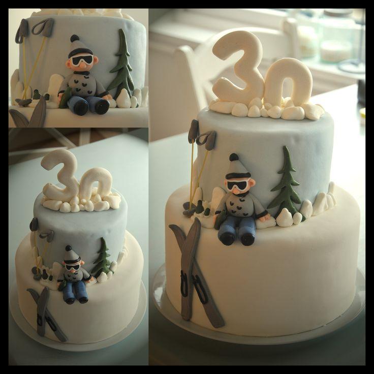 Ski cake to my husbands 30th birthday