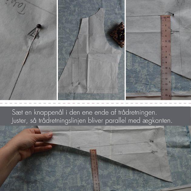 VIDEO GUIDE. Trådretningen i stoffet er afgørende for, om dit tøj kommer til at sidde pænt. Lær hvordan du sikrer dig, at du altid følger trådretningen.