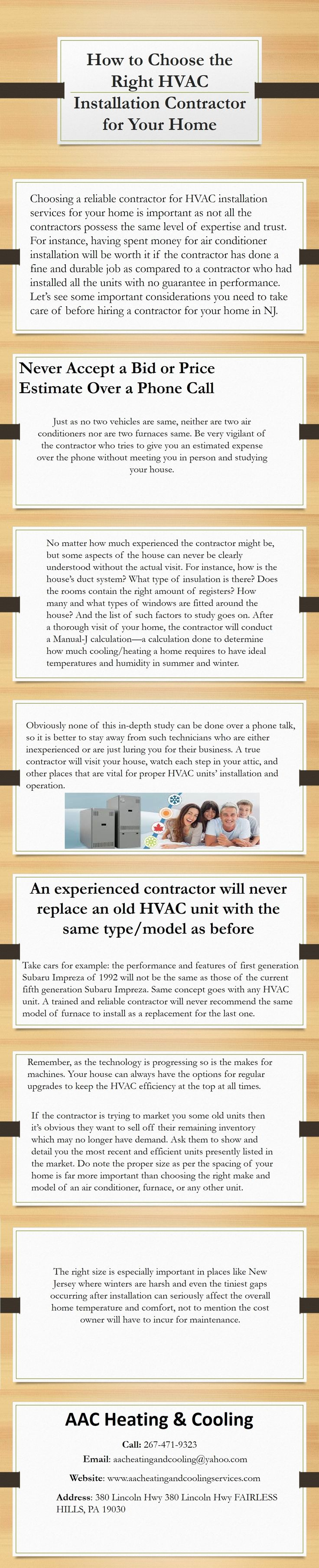 AAC Heating & Cooling is now here to provide the safest and reliable HVAC installation services in NJ!