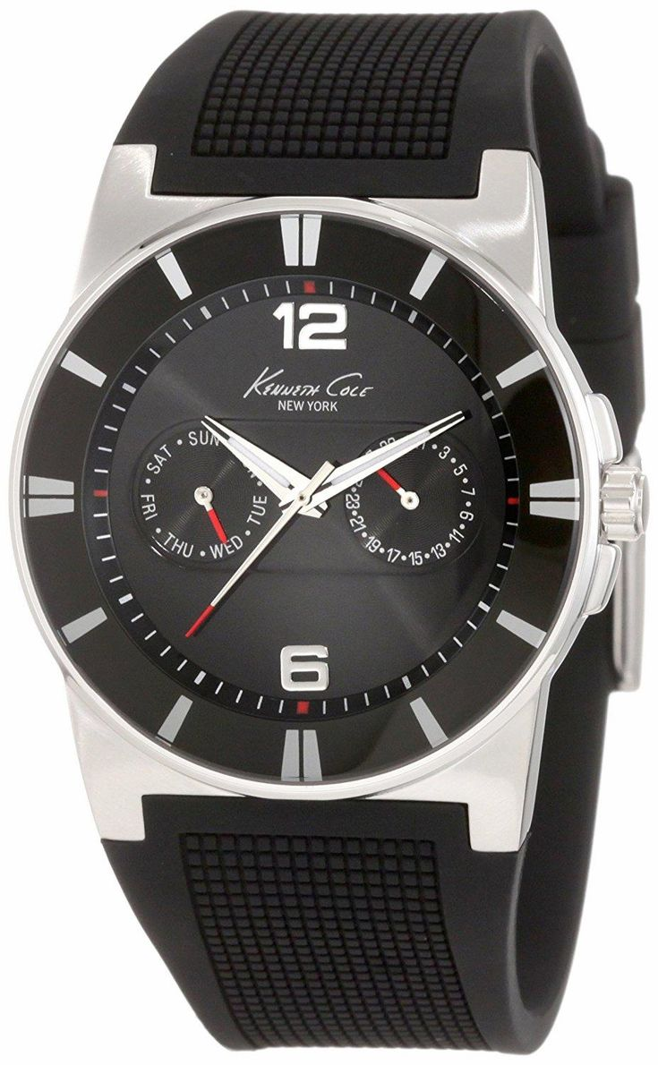 Sporty design inspired from supercars. KENNETH COLE New York KC1405-NY Sport Trend Round black Watch. Feel the speed. Feel the emotion. #KENNETHCOLE  #KhaValeri www.pinterest.com...    kha_amz_KENny0305_v37