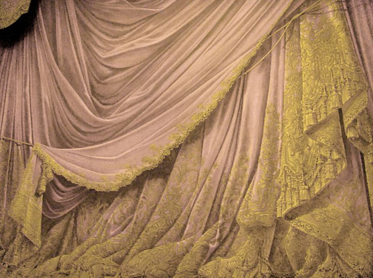 Backdrop Vintage Theater Stage Curtain - Cream by ~EveyD on deviantART