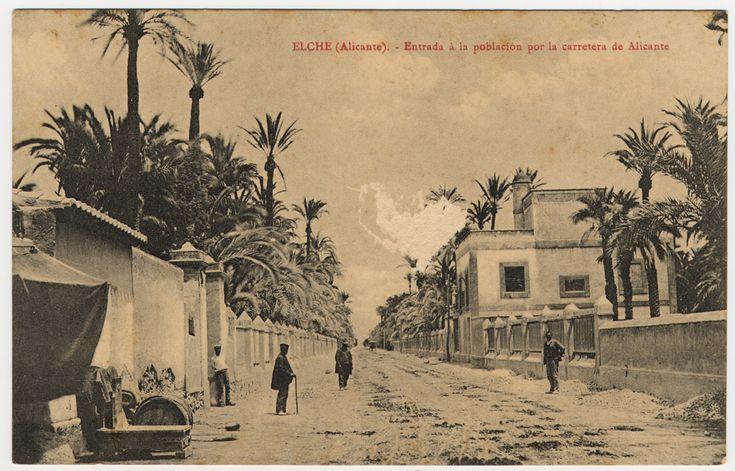Entrada a la población por la carretera de Alicante : Elche (Alicante). (s.a.) - Anónimo