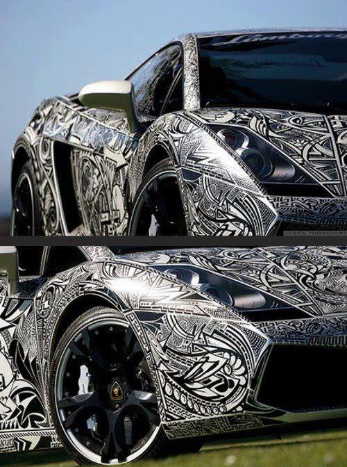 Island Tribal design on a car...too cool | I am Pasifika ...