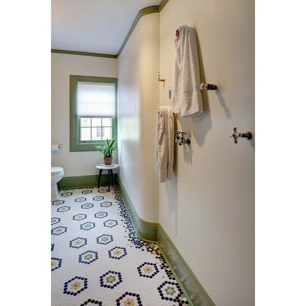 Prepare To Be Amazed By These 13 Mosaic Bathroom Floor Tile Ideas Hunker Craftsman Bathroom Mosaic Bathroom Minimalist Bathroom