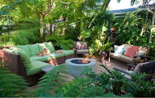 tropical fire pit