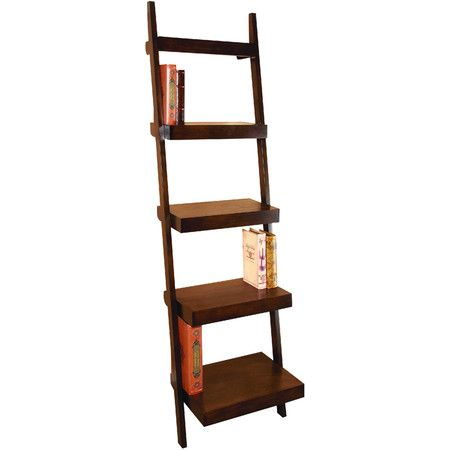 Ladder-inspired leaning etagere.Product: EtagereConstruction Material: WoodColor: BrownFea...