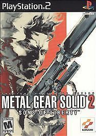 Metal Gear Solid 2: Sons of Liberty (Sony PlayStation 2, 2001) Black Lable CIB