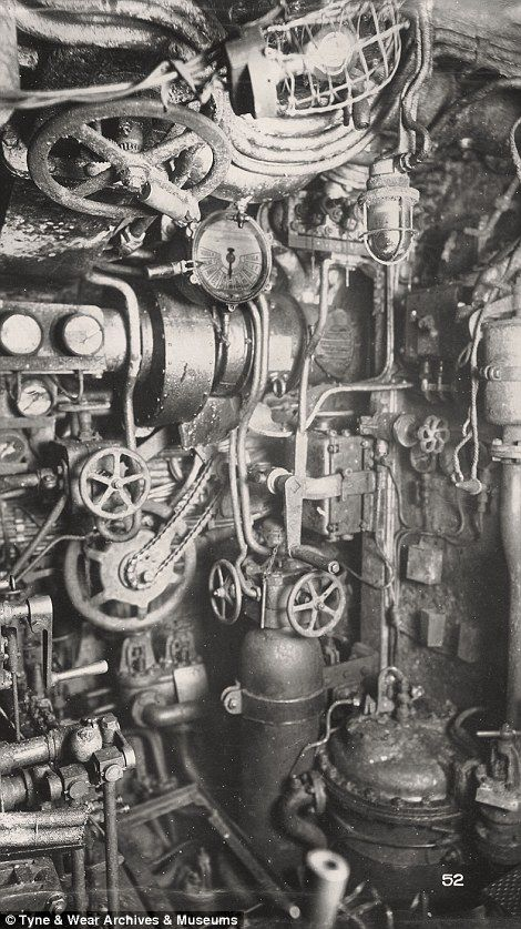 Inside a killing machine: The ghostly century-old images of a German WWI U-Boat raised from depths of the North Sea | Daily Mail Online
